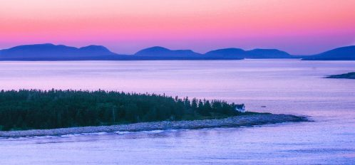 Great Duck Island Foggy Sunset