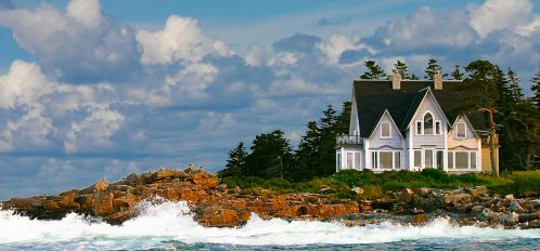 Great Duck Island House on the hill
