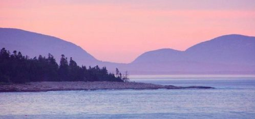 Great Duck Island House | Shoreline at Sunset