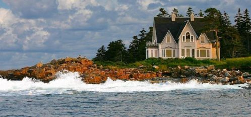 Great Duck Island House | View of house from the water