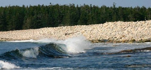 Great Duck Island House | Shore with waves