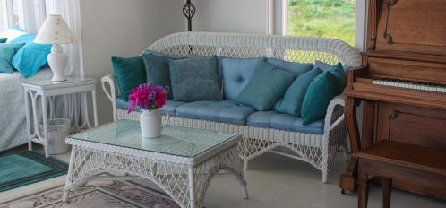 Great Duck Island House   Interior   Couch and coffee table